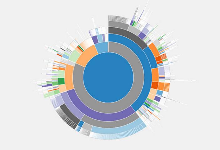 نمایش نمودار فضای دیسک سخت در وردپرس